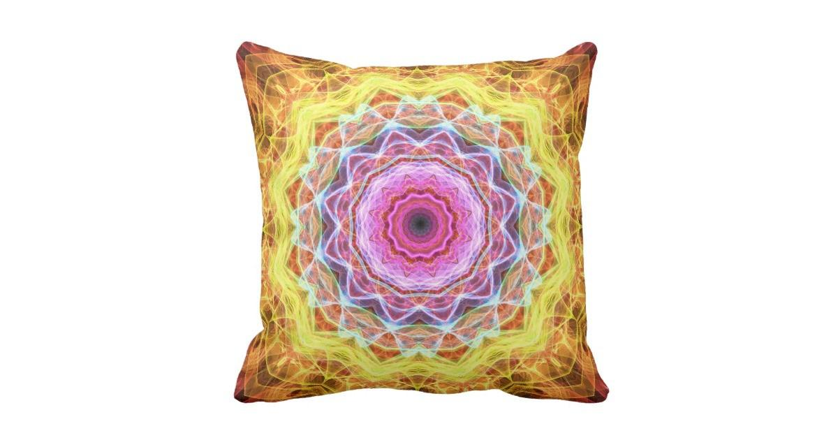 Pink Passion Kaleidoscope Throw Pillow Zazzle