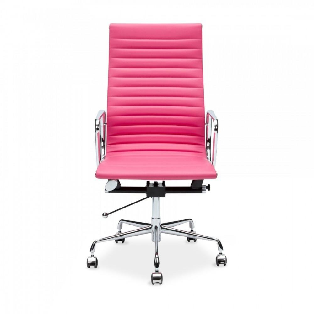 Pink Ribbed Style Office Chair Cult
