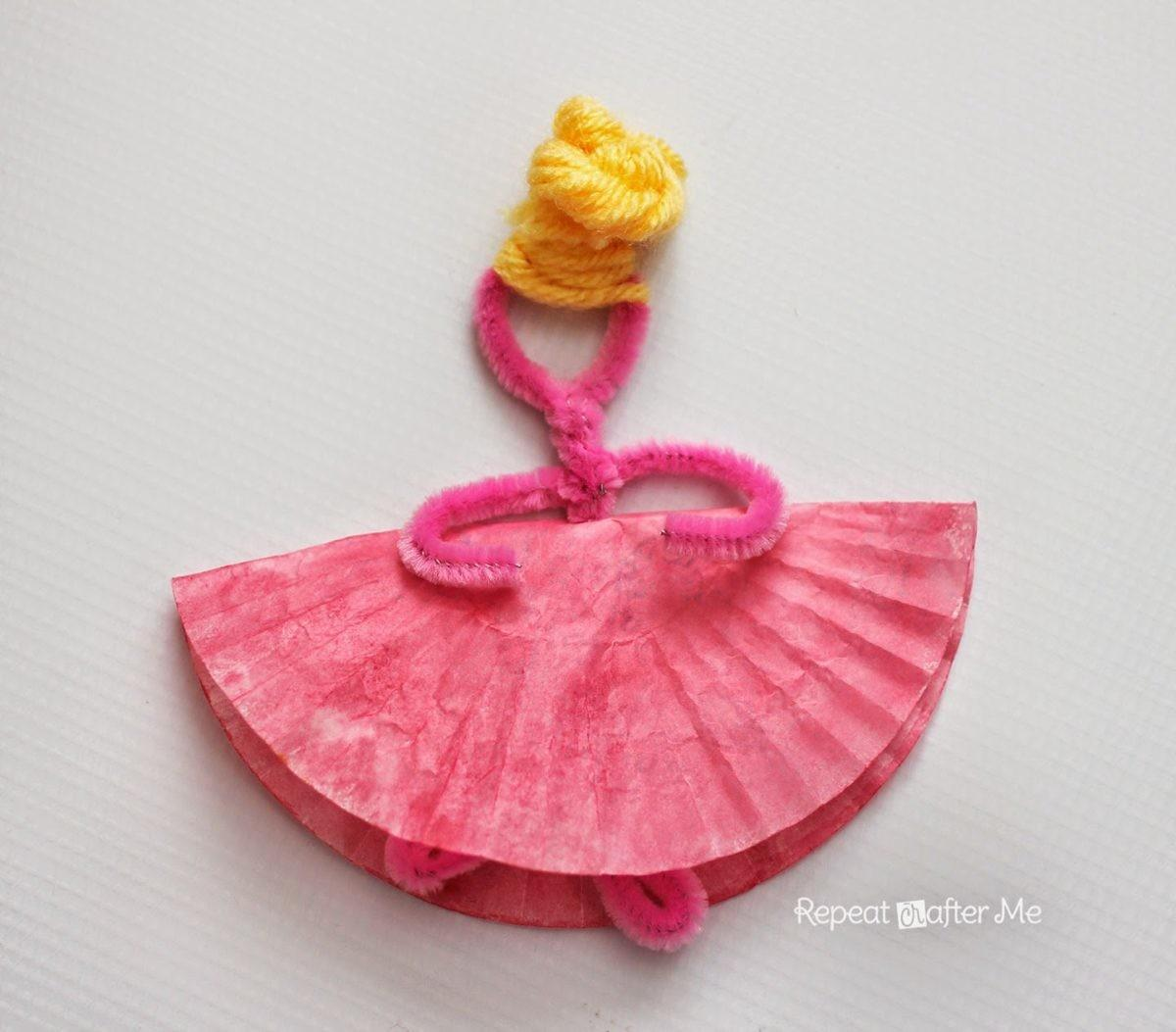 Pipe Cleaner Cupcake Liner Ballerinas Repeat Crafter
