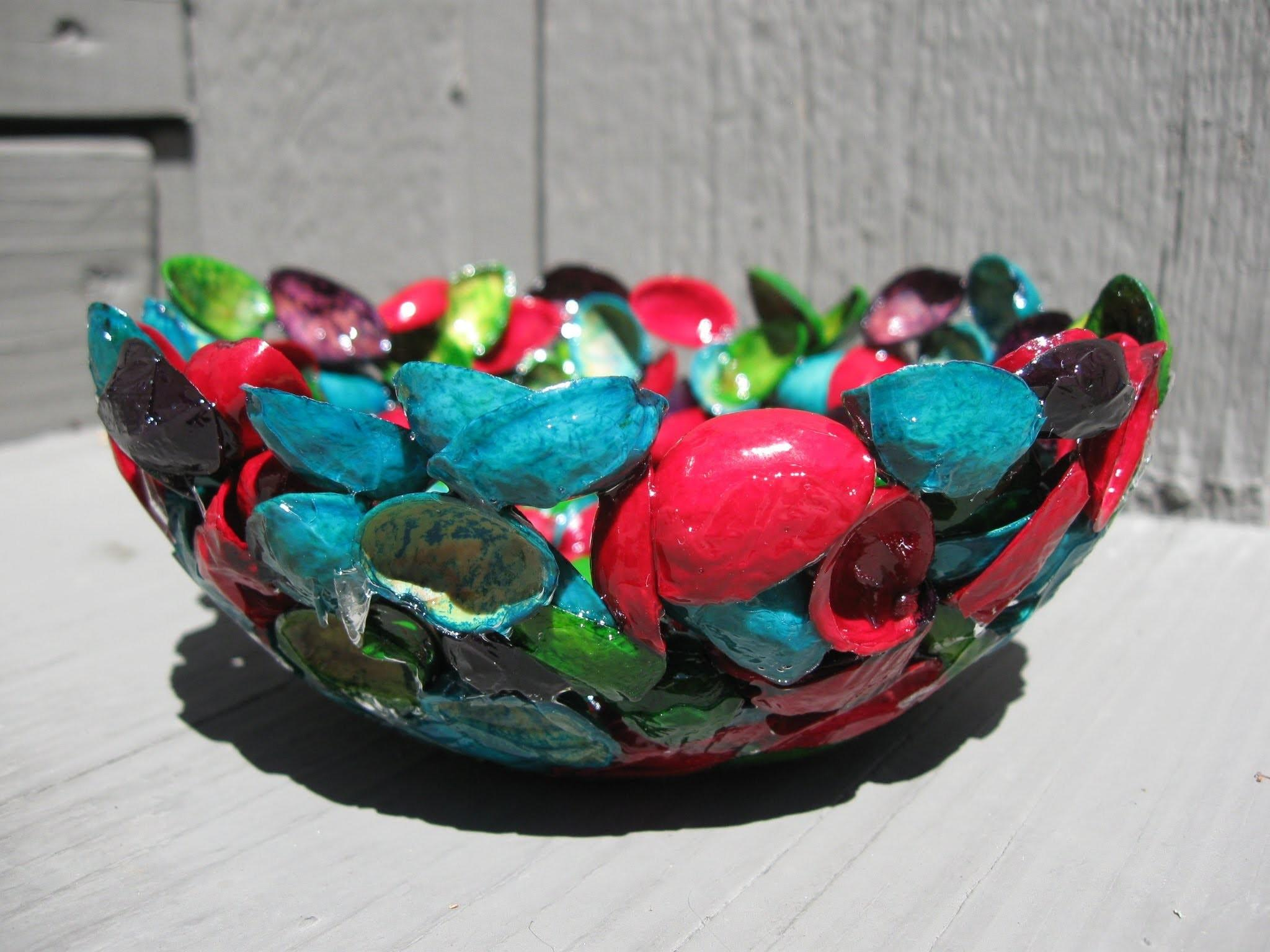Pistachio Shell Resin Bowl Recycling Craft