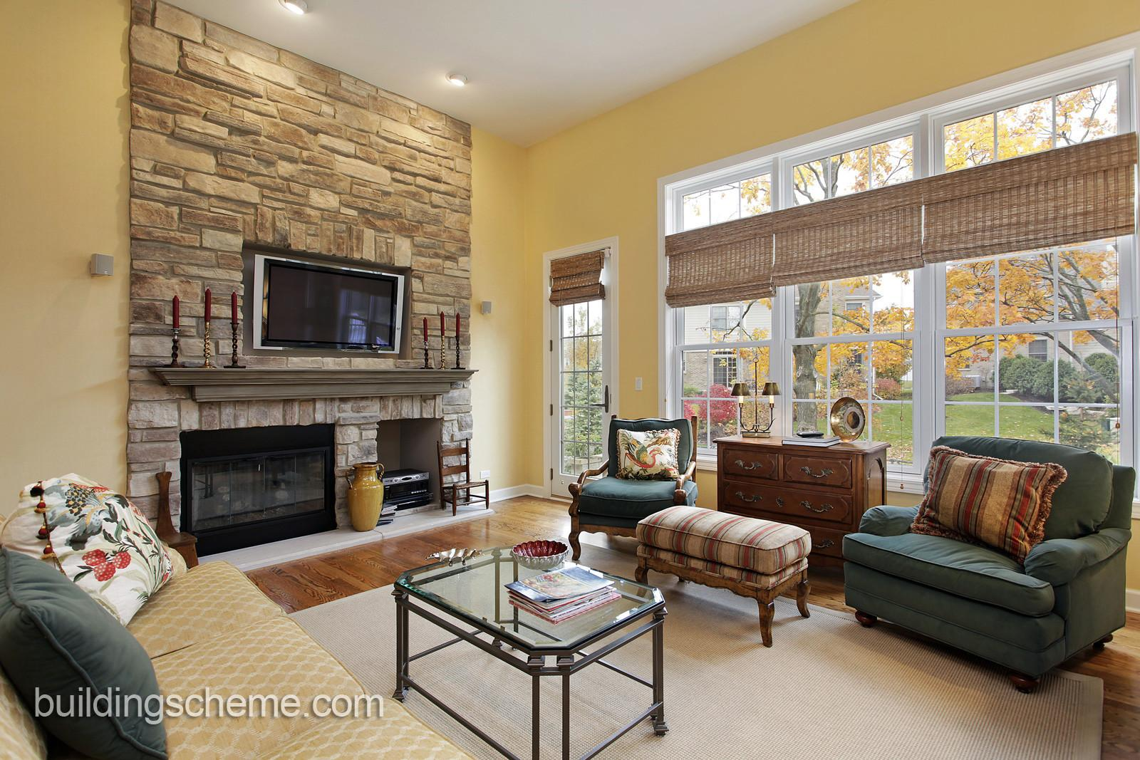 Place Furniture Living Room Fireplace