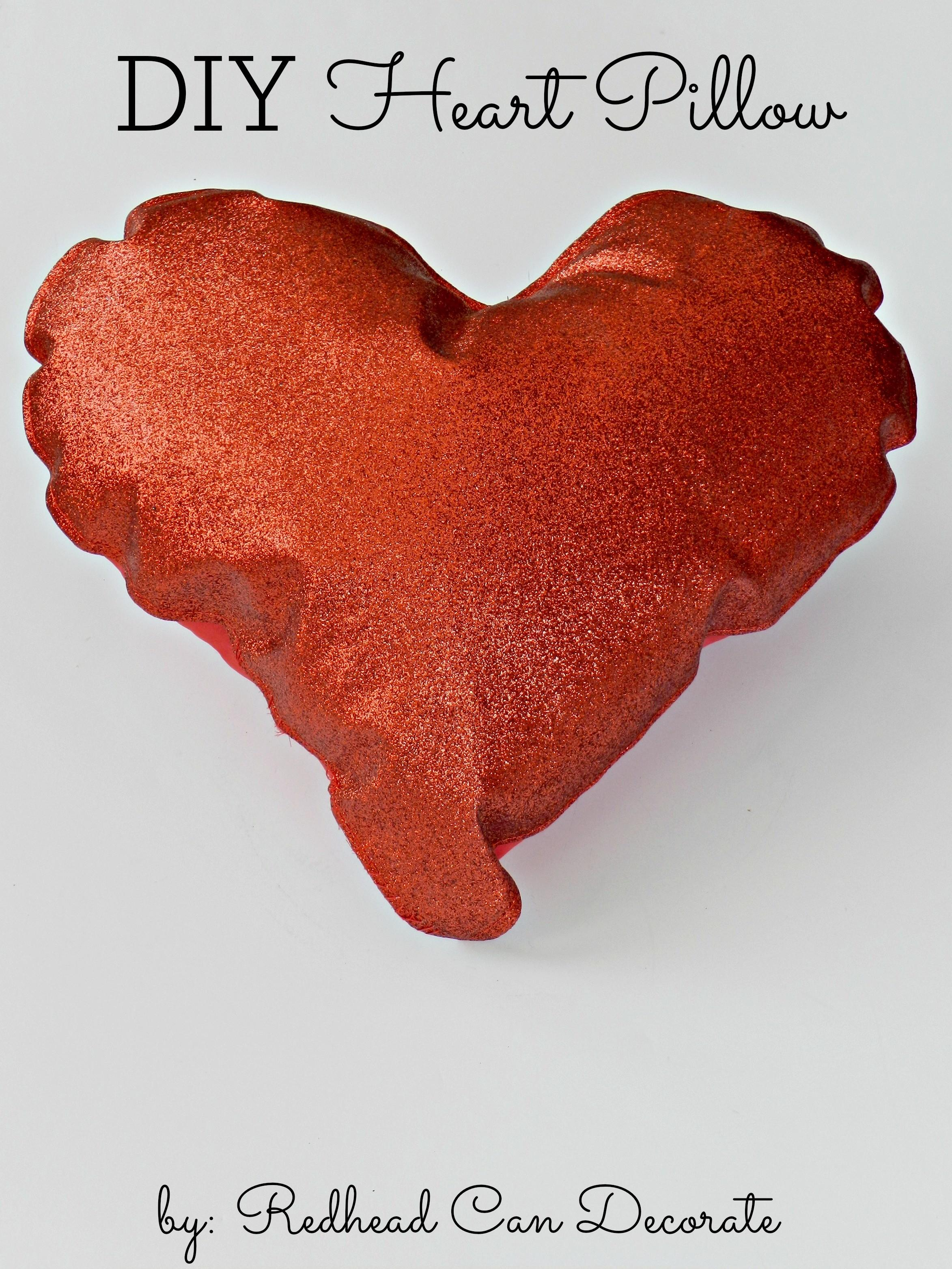 Placemat Turned Heart Pillow Redhead Can Decorate