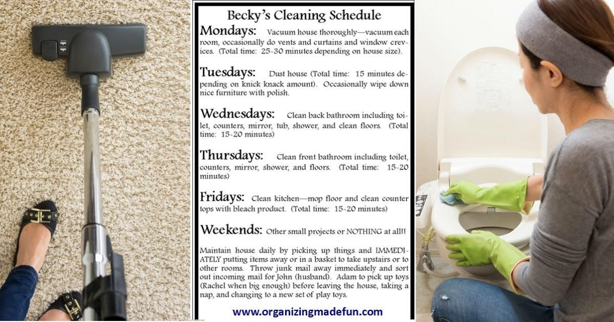 Plan Clean Your House Minutes Day Went Viral