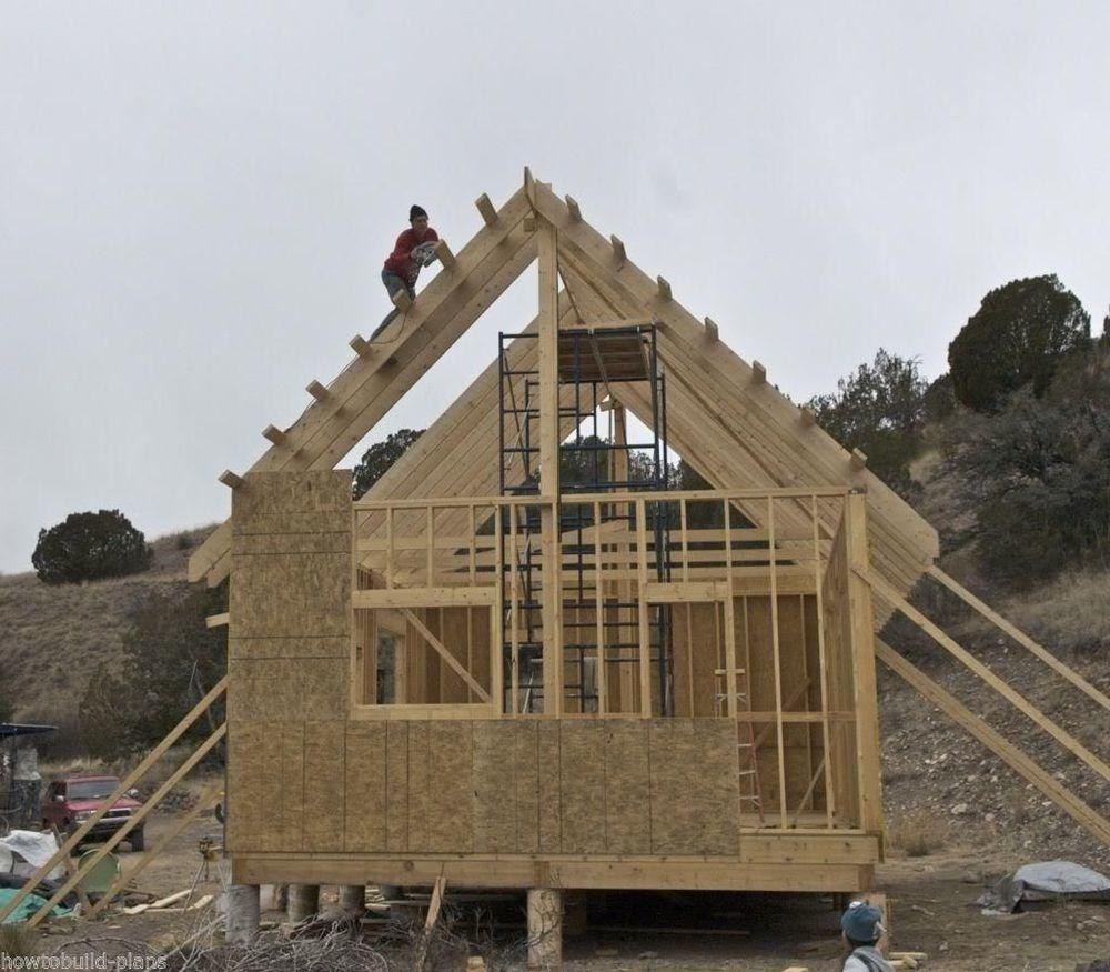 Plans Build Stick Frame Wood Rafter Gable Roof