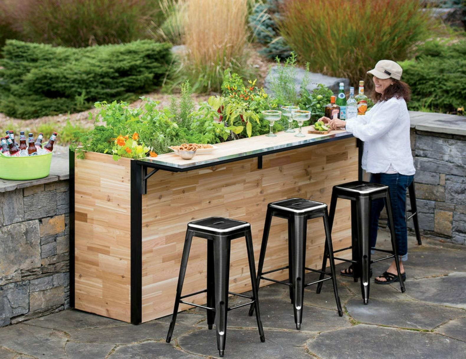 Plant Bar Outdoor Made Reclaimed Wood