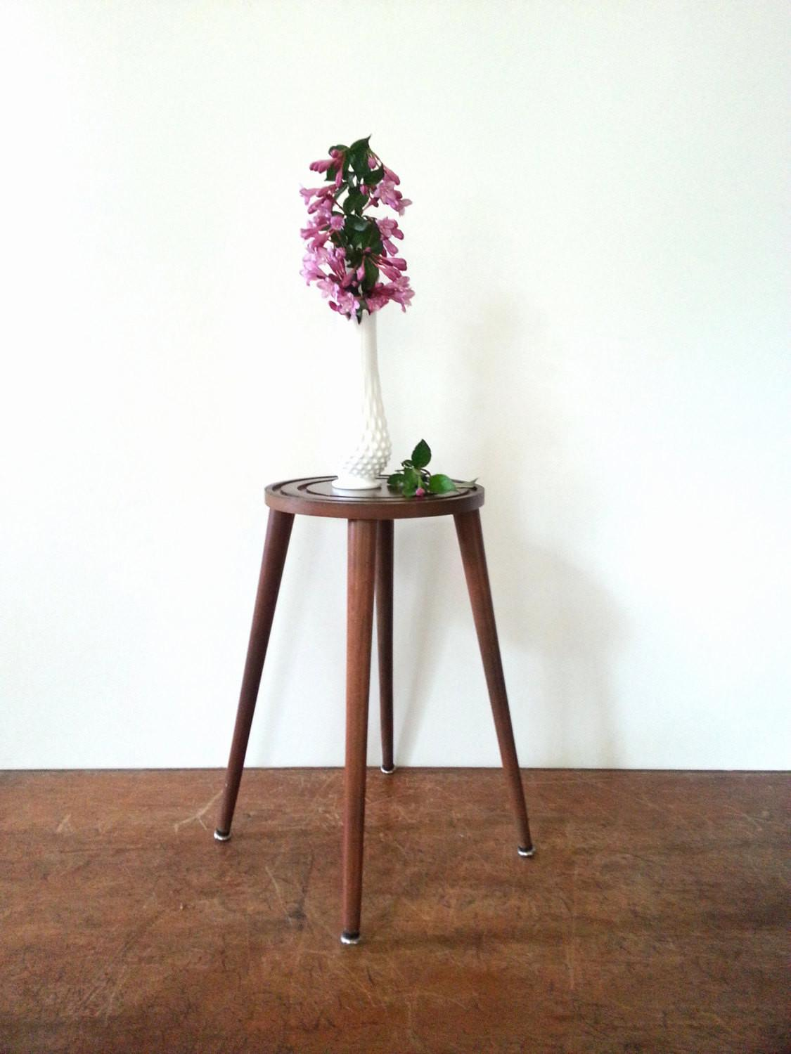 Plant Stand Side Table Mid Century Modern 50s 60s Danish