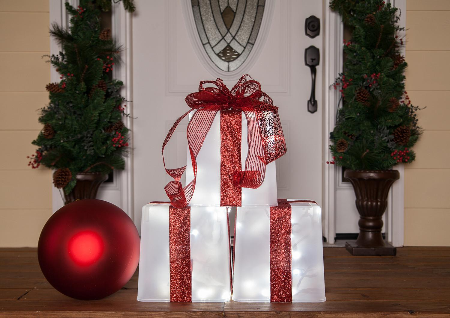 Plastic Container Lighted Gift Box