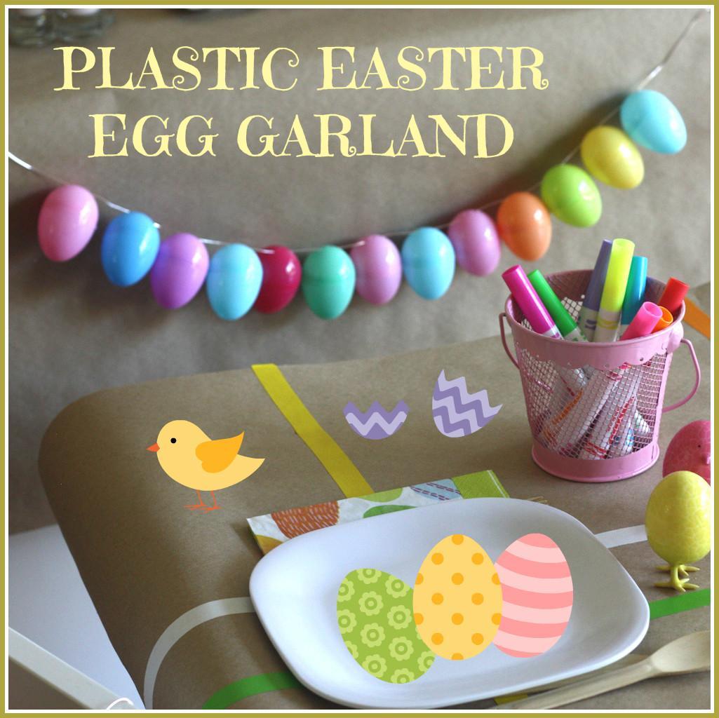 Plastic Easter Egg Garland Craft Catch Party