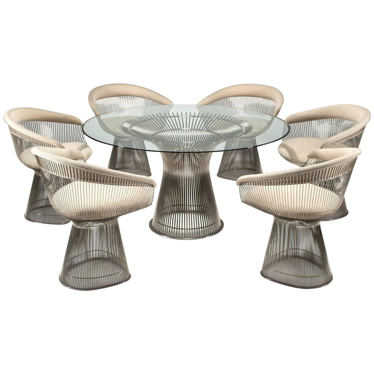 Platner Dining Table Six Chairs Warren