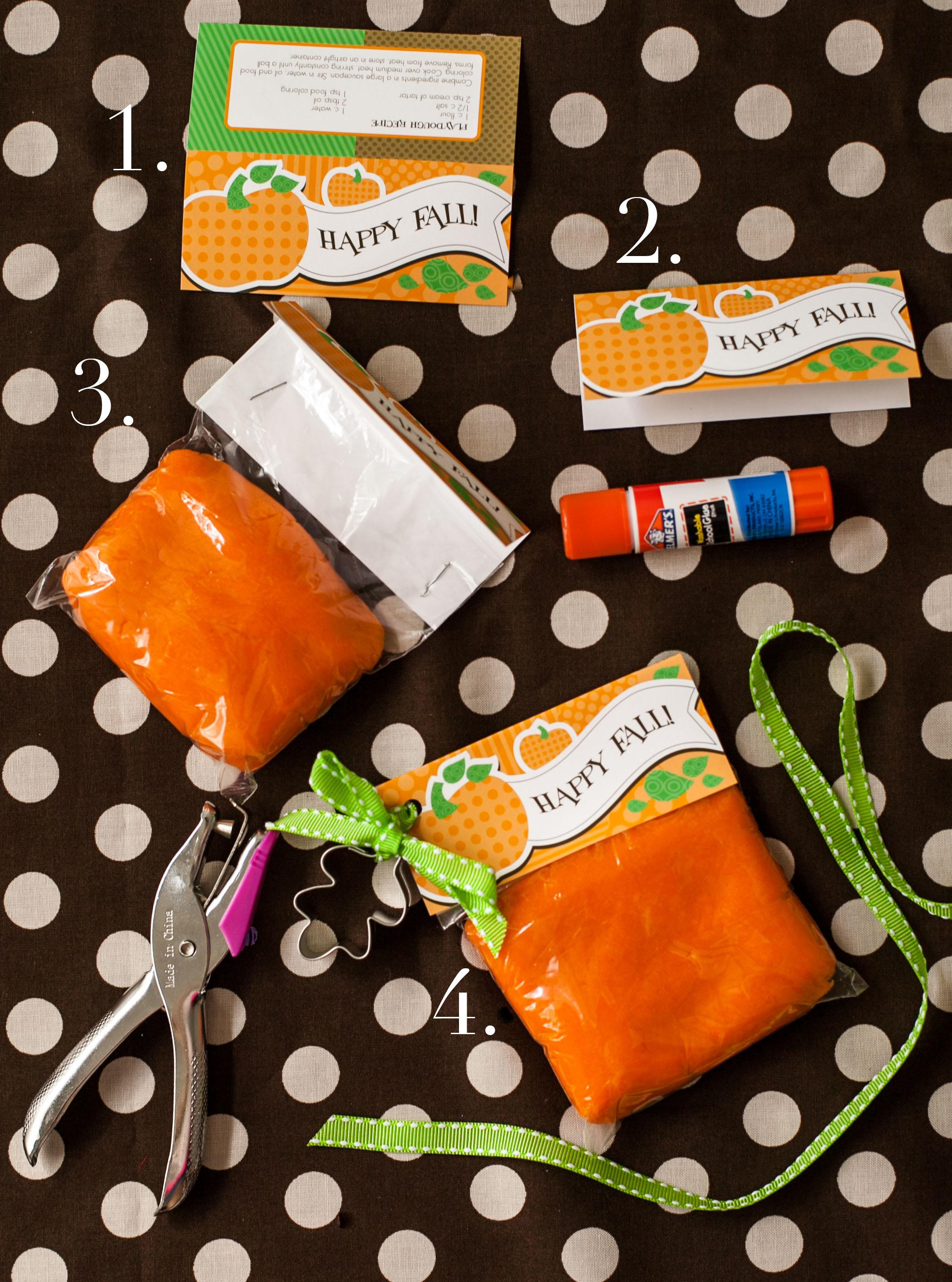 Playdough Favor Printable Perfect Fall