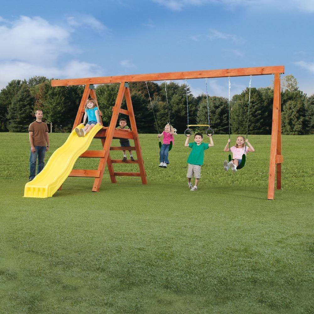 Playground Swing Set Kids Outdoor Playsets Toddler