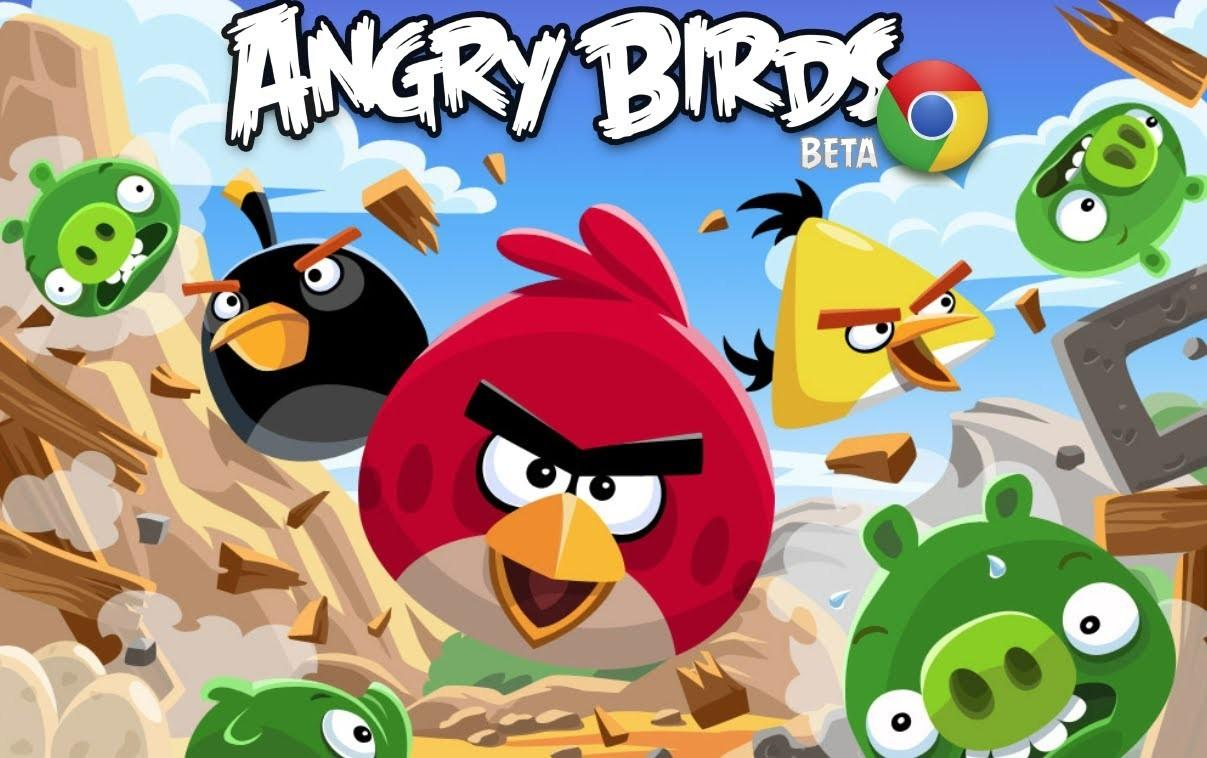 Playing Angry Birds Board Game Thin Ice Knock