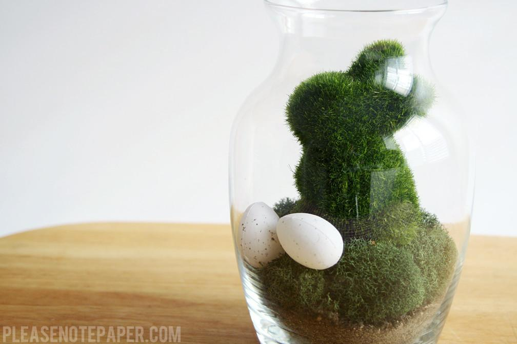 Please Note Diy Easter Terrarium