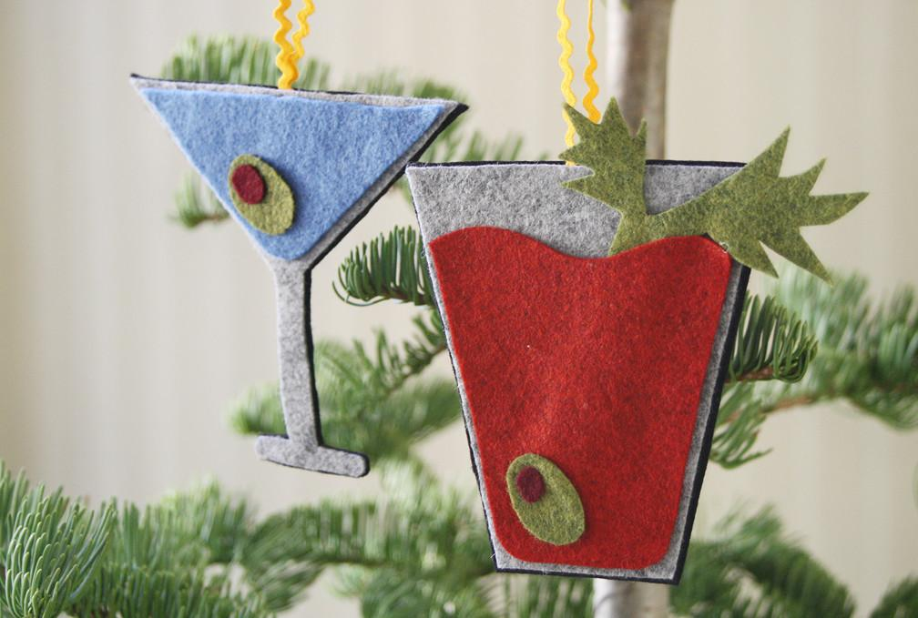 Please Note Diy Sew Cocktail Ornaments
