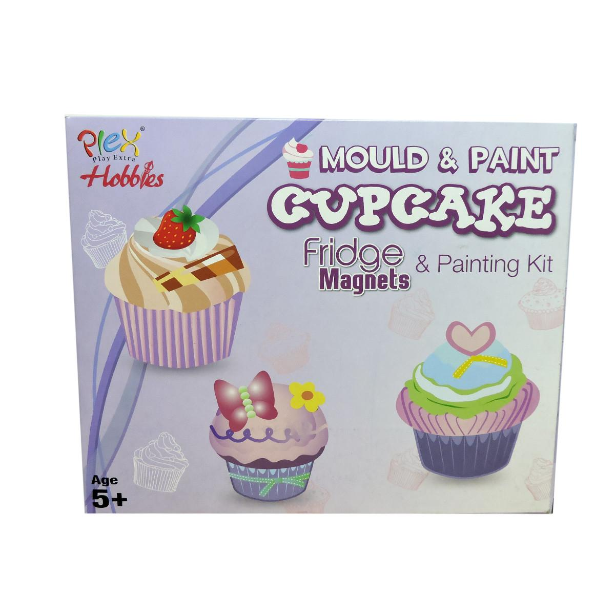 Plex Hobbies Diy Mould Paint Cupcake Fridge Magnet