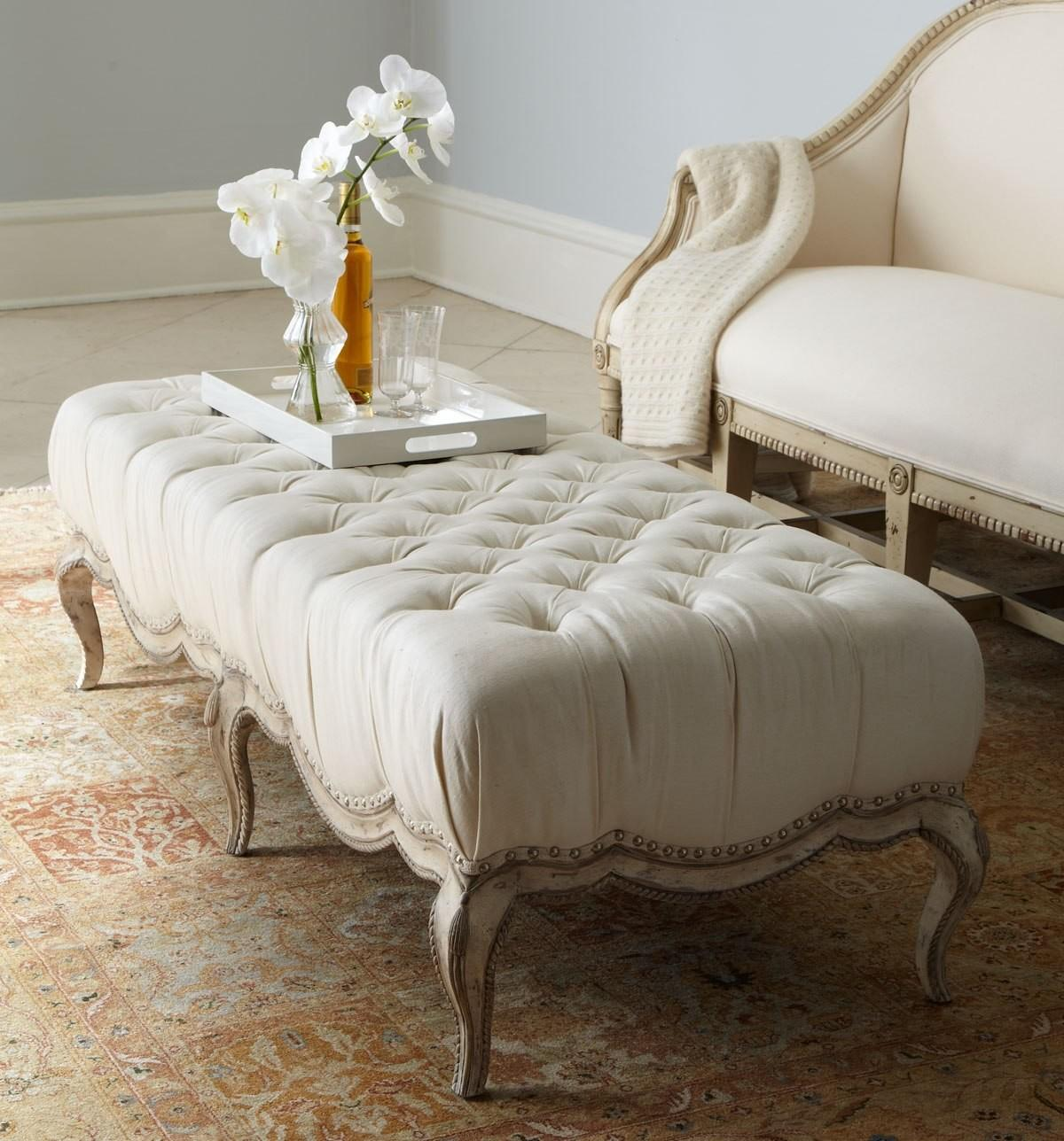 Plush Tufted Ottomans Add Comfort Functionality