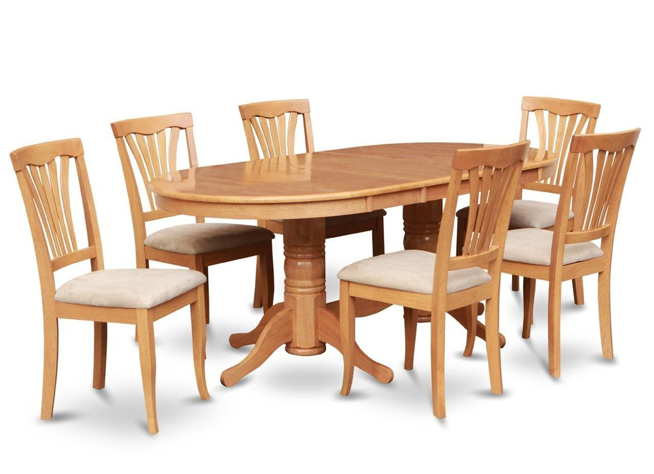 Plushemisphere Elegant Beautiful Oval Wood Dining