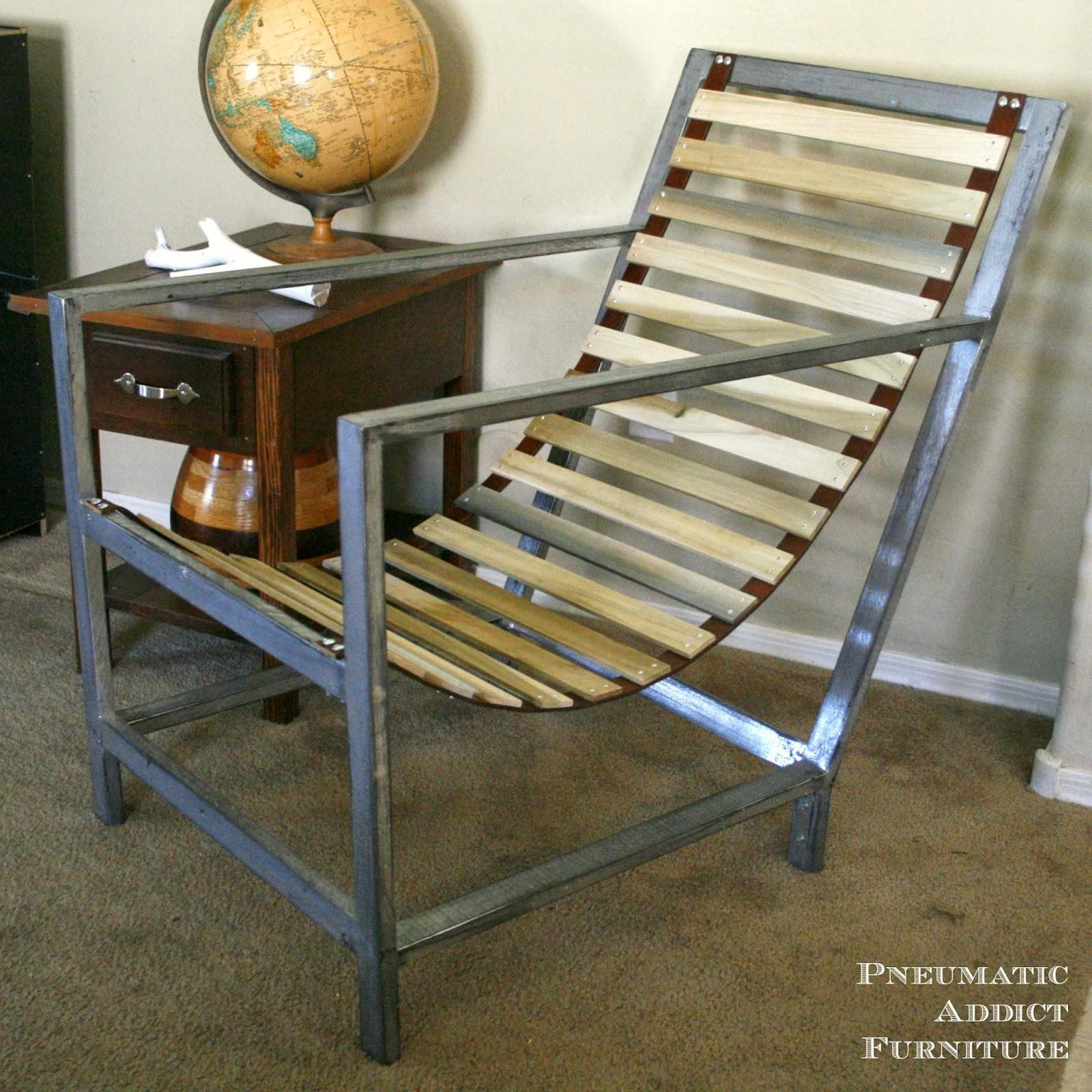 Pneumatic Addict Wood Leather Sling Chair