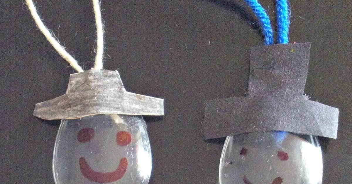 Poetic Mommy Plastic Spoon Snowman Ornament Diy