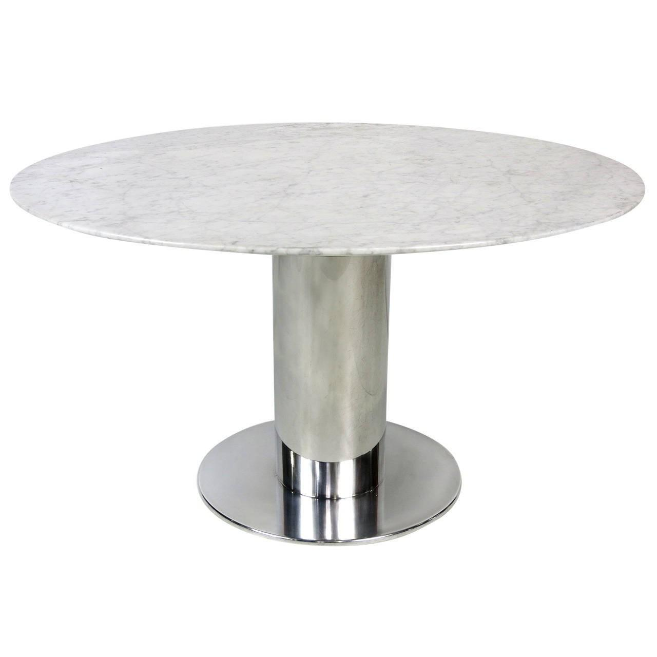 Polished Stainless Steel Dining Table Base Sale 1stdibs