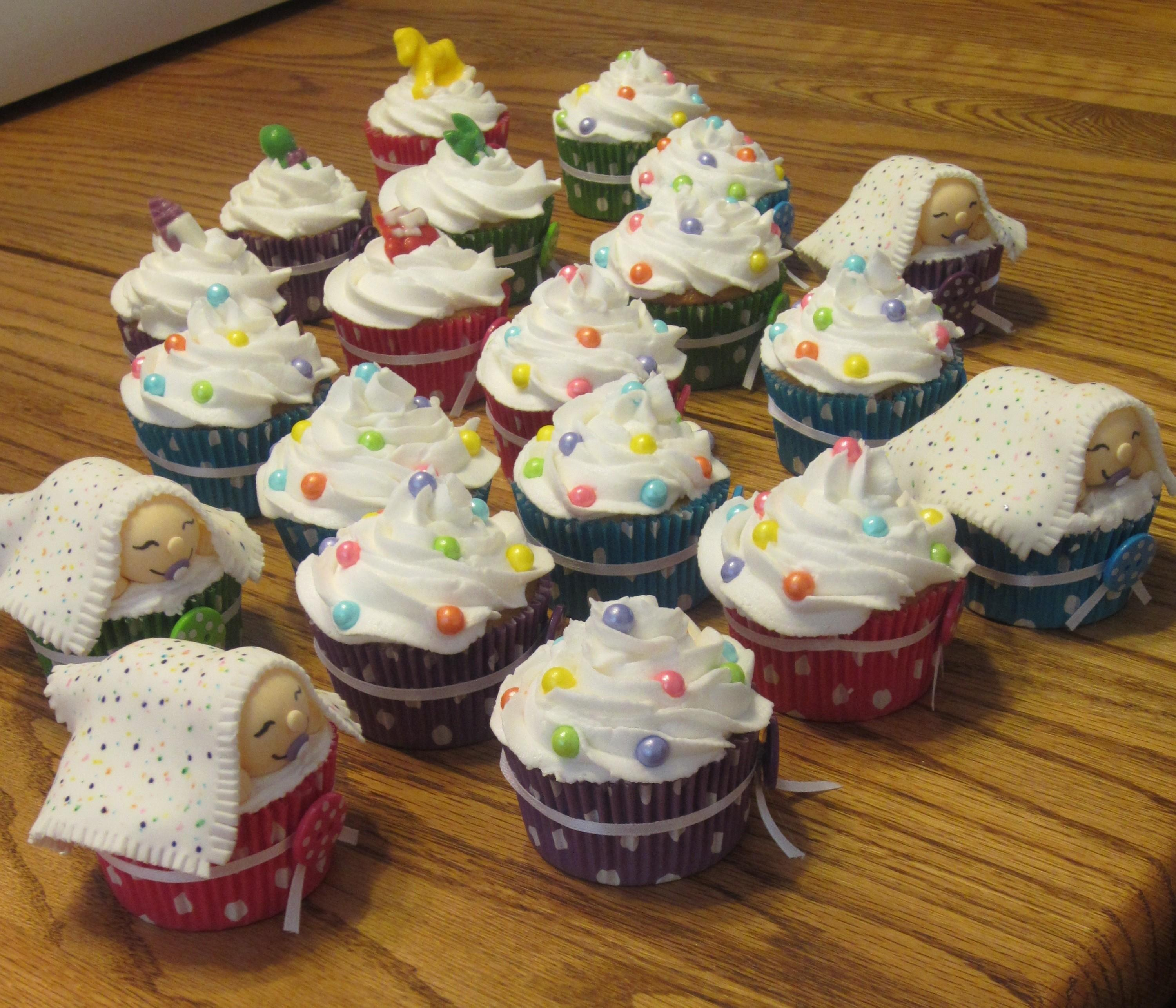 Polka Dot Baby Shower Cupcakes Cakecentral