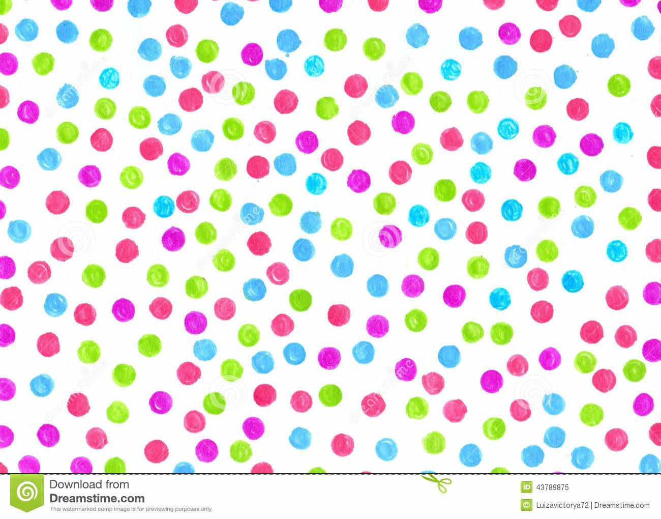 Polka Dot Painted Markers Different Design