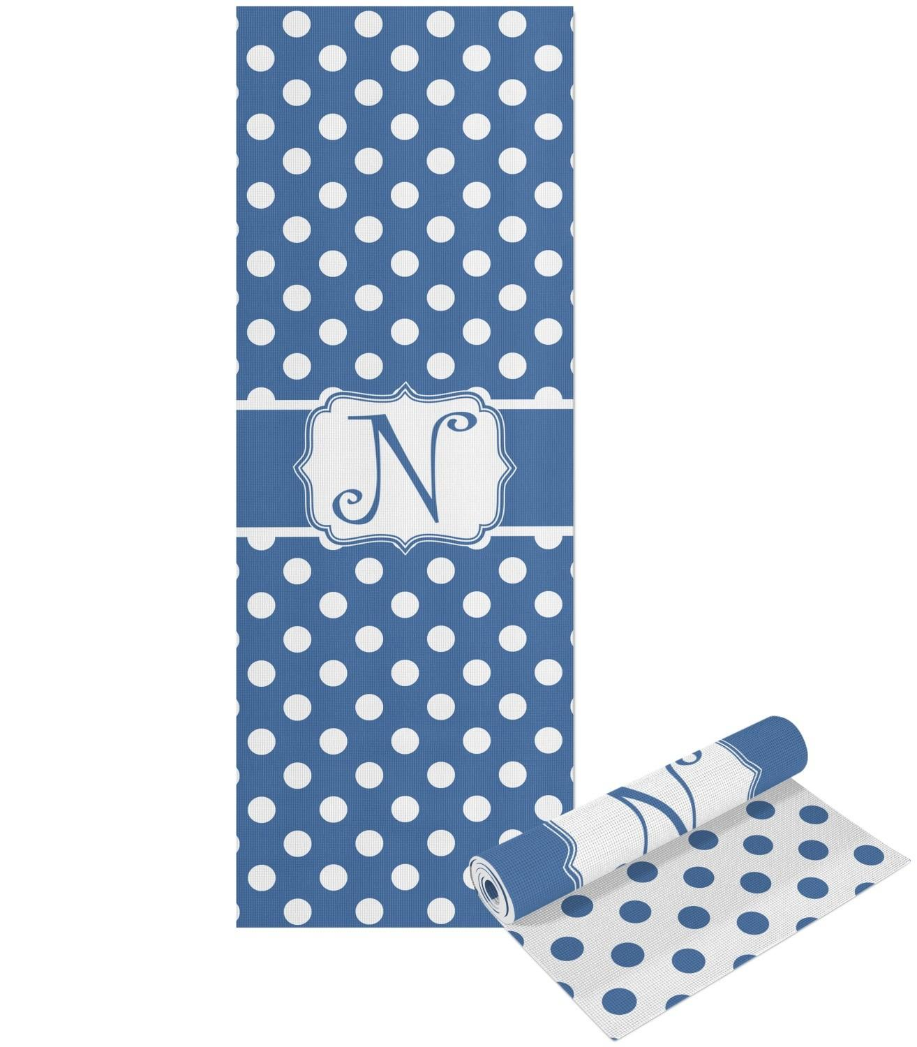 Polka Dots Yoga Mat Printable Front Back