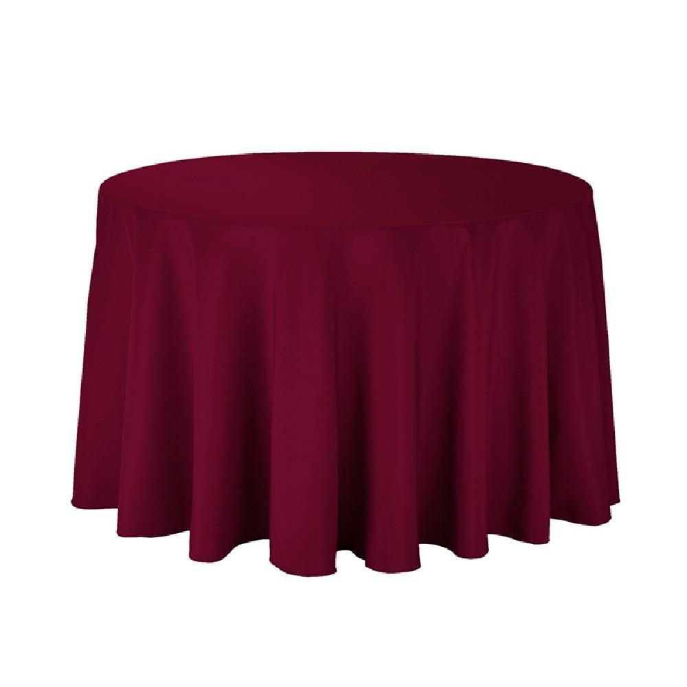 Polyester Tablecloth 108 Round Burgundy Prestige Linens