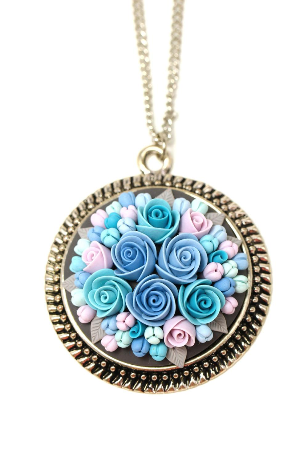 Polymer Clay Pendant Necklace Jewelry