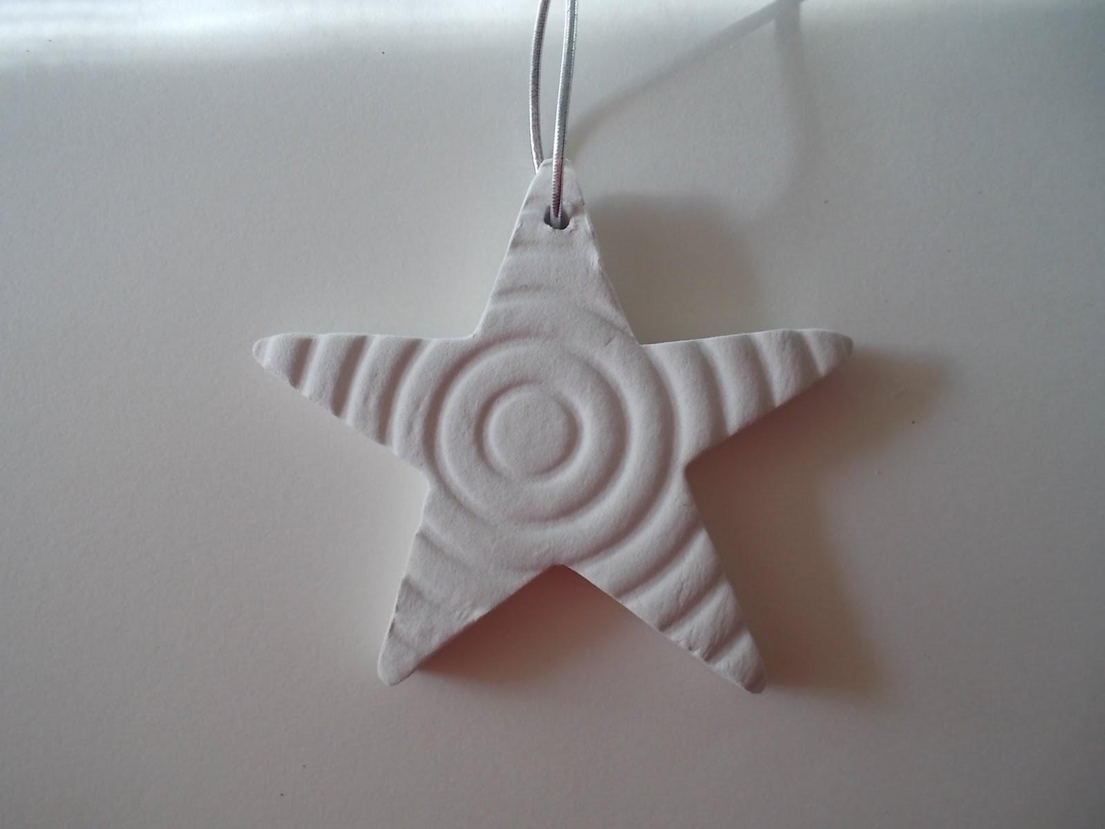 Polymer Clay Stars Christmas Tree Ornaments