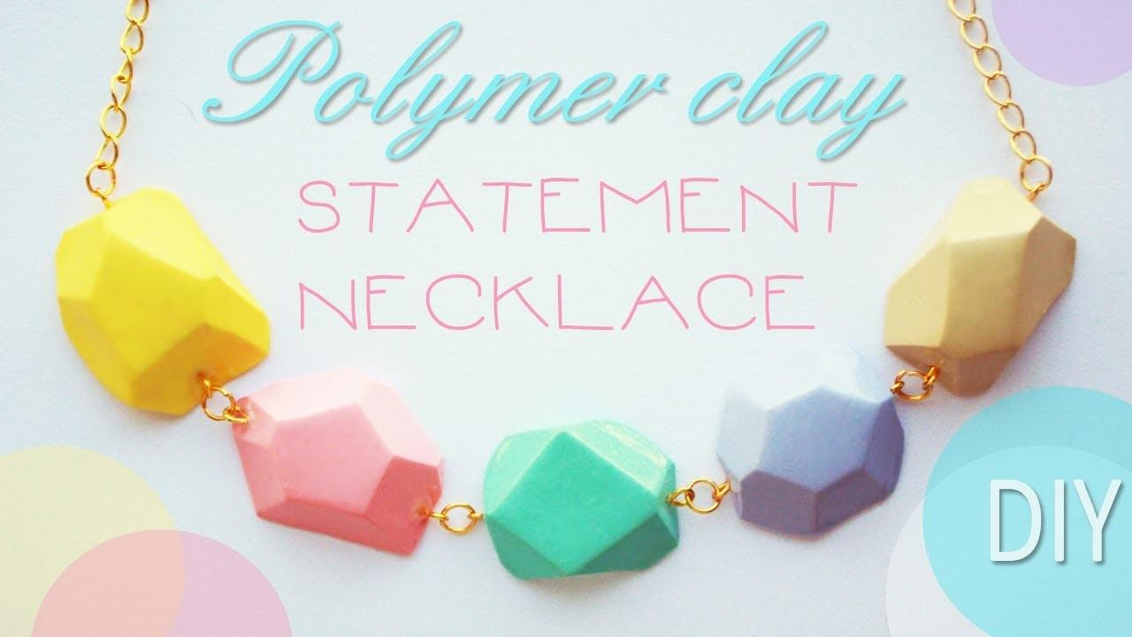 Polymer Clay Statement Necklace Tutorial