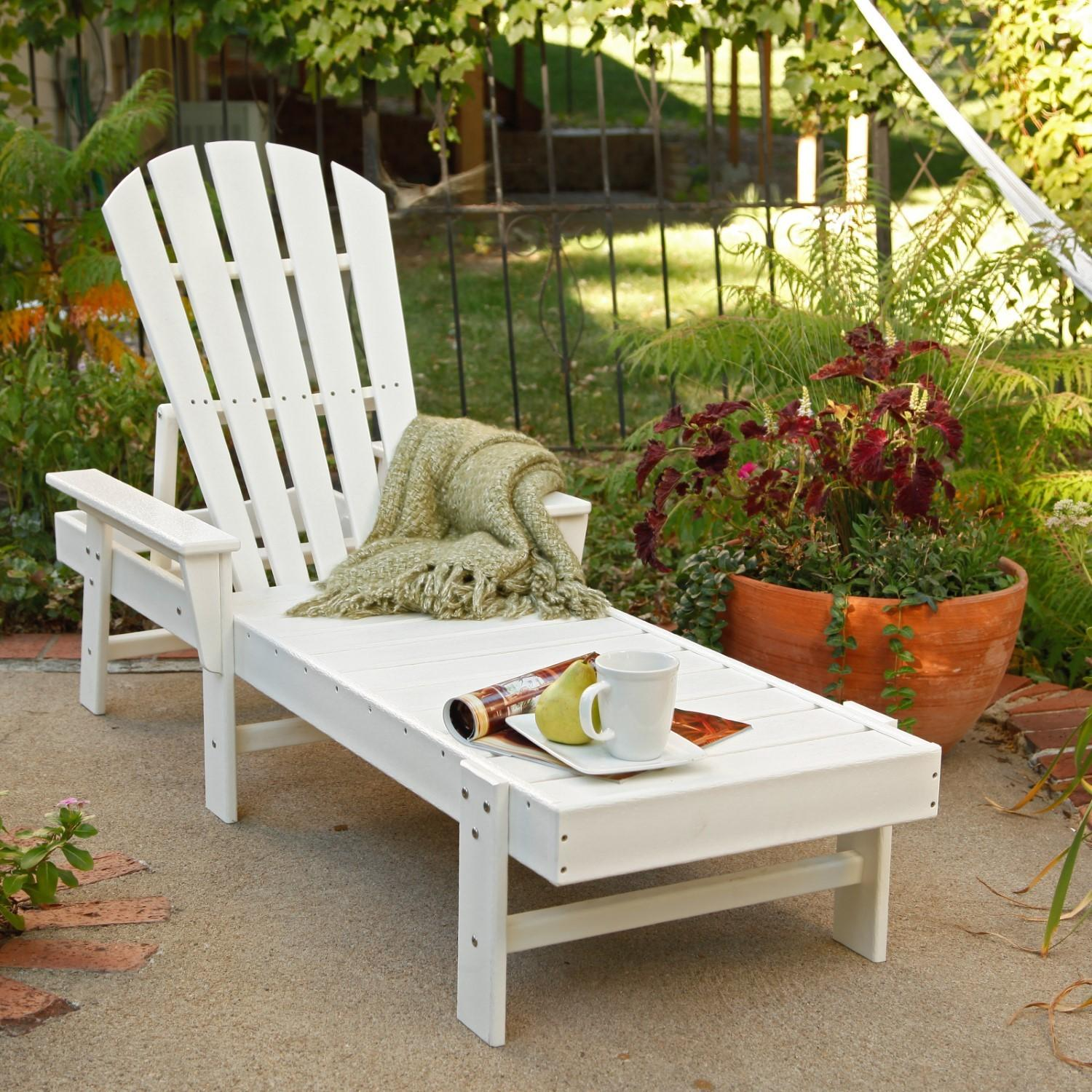 Polywood South Beach Recycled Plastic Chaise Lounge Jet