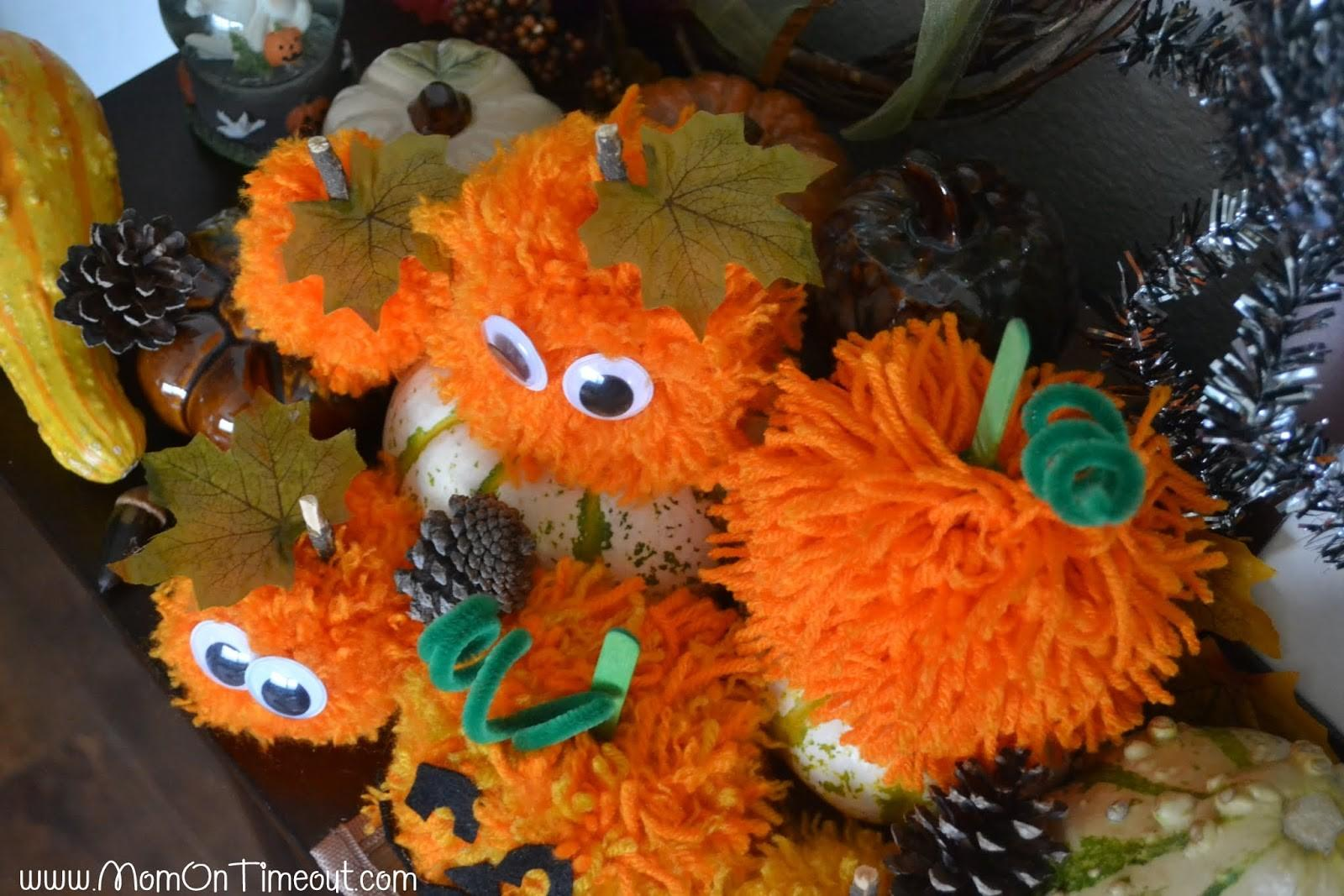 Pom Pumpkins Kid Halloween Craft Idea Mom Timeout