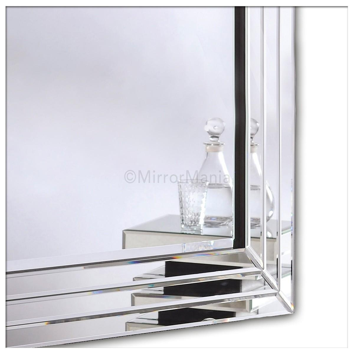 Pompeii Modern Bevelled Wall Mirror