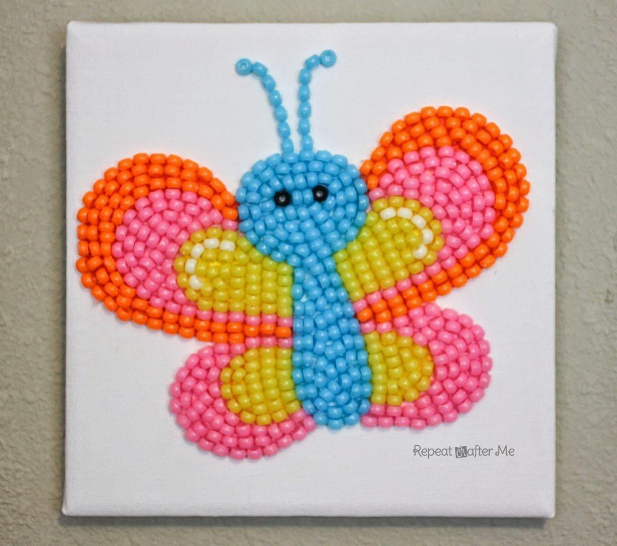 Pony Bead Butterfly Repeat Crafter