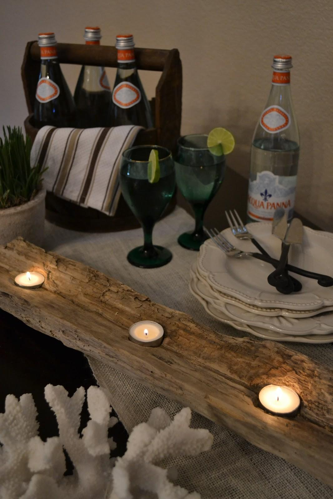 Poor Sophisticate Driftwood Candle Holder Tutorial