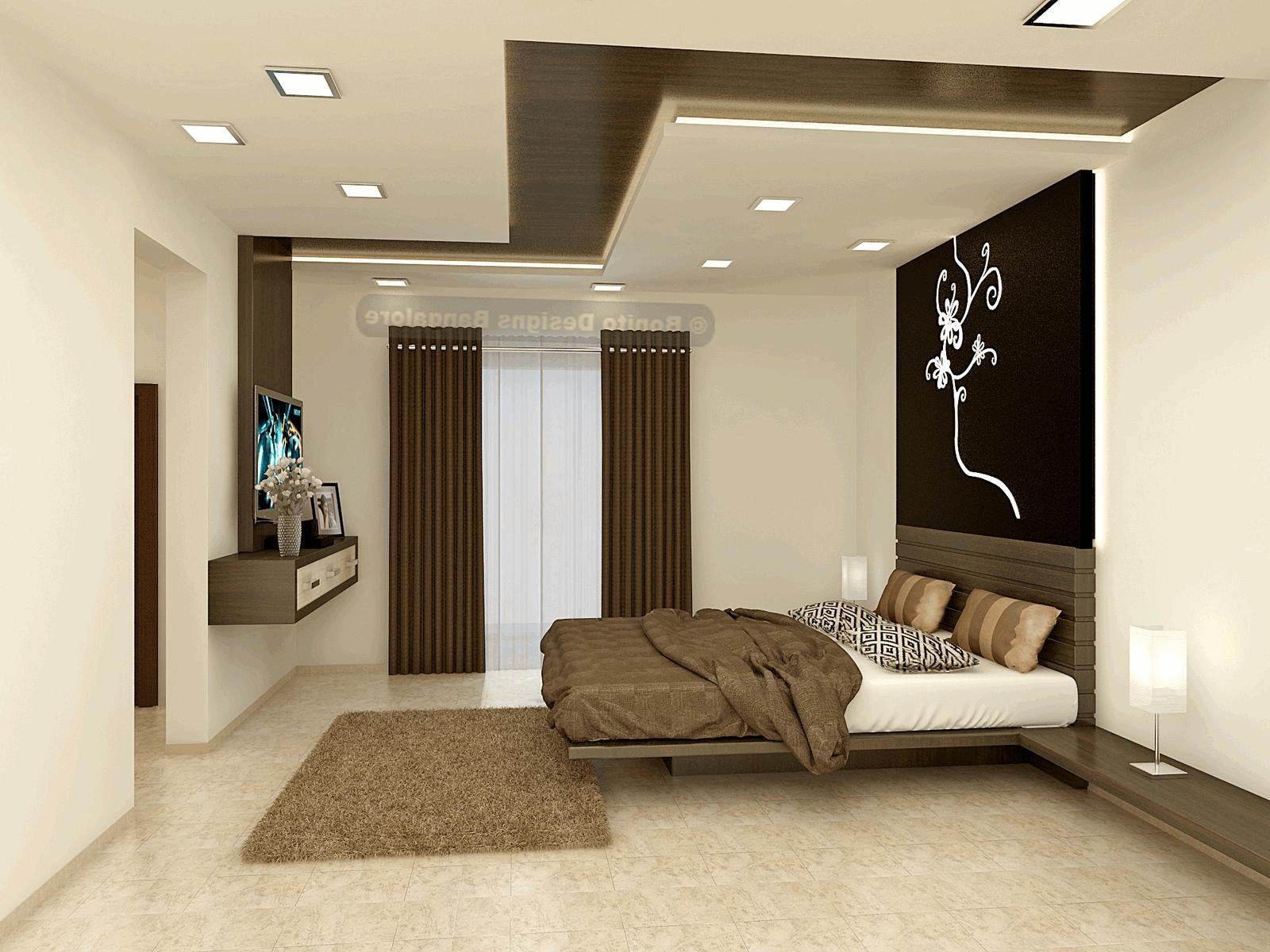 Pop Fall Ceiling Designs Bedrooms Cushy Square White