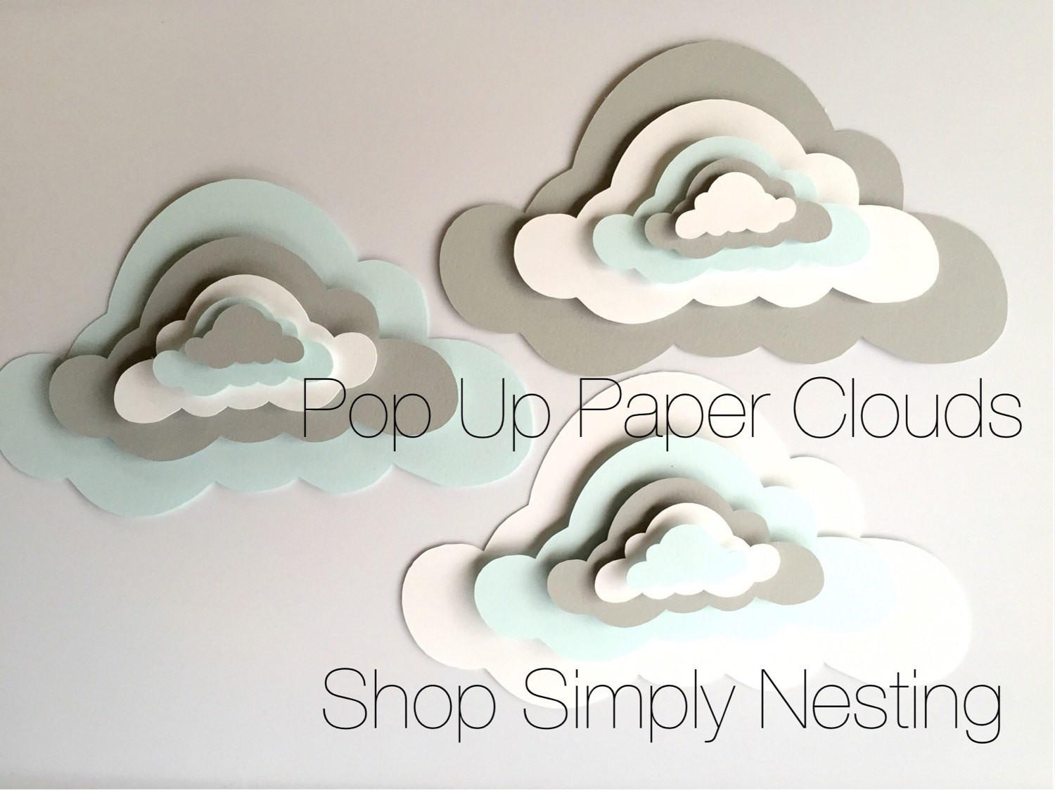 Pop Paper Clouds Cloud Wall Art