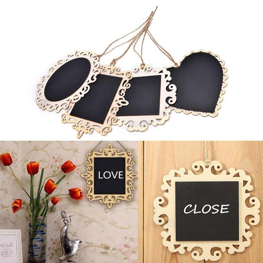 Pop Vintage Hanging Wood Blackboard Chalkboard Message
