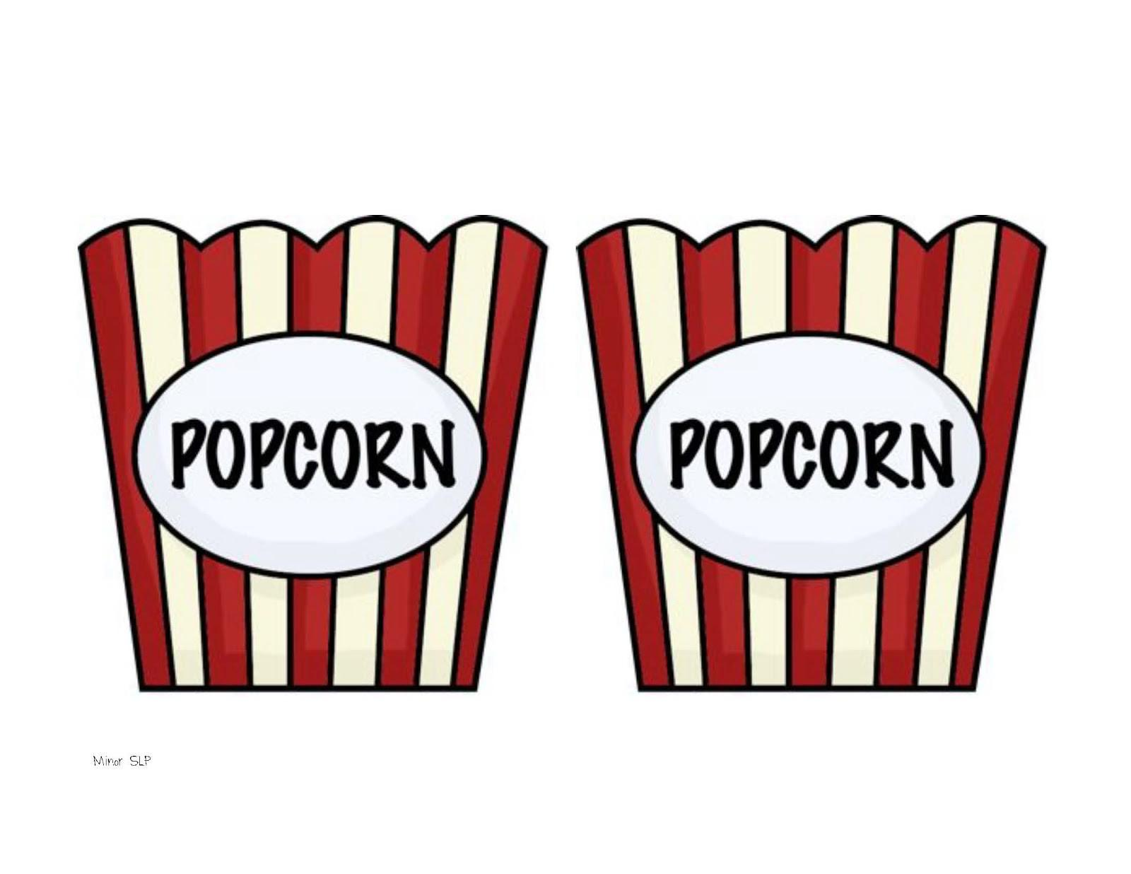Popcorn Container Clipart Collection