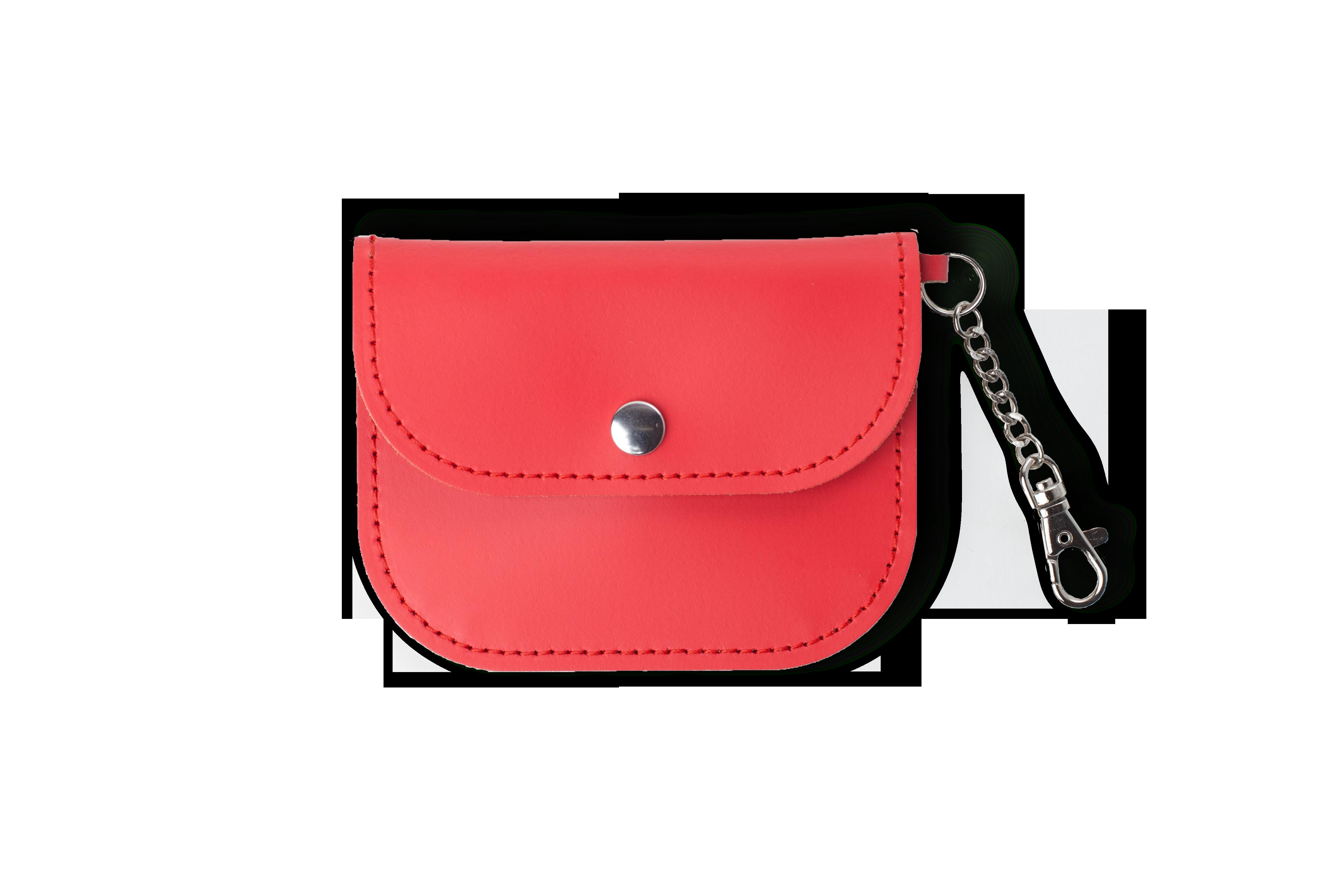 Poppy Red Leather Coin Purse Made