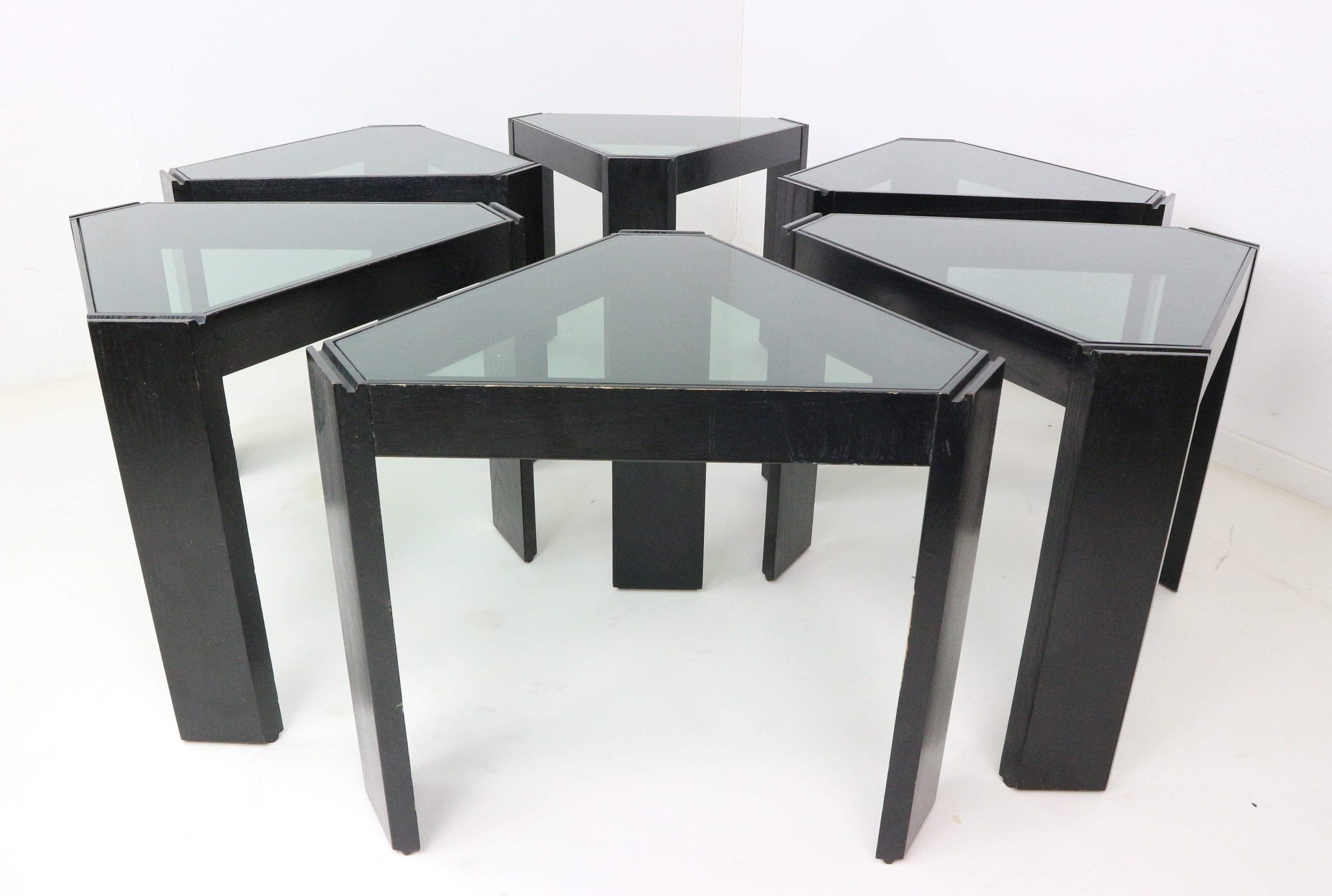 Porada Arredi Geometric Stackable Nesting Tables 1970s