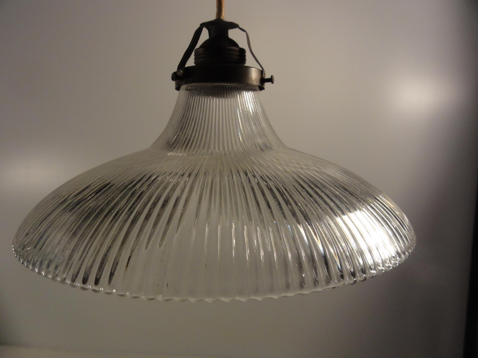Porcelain Pendant Light Glass Shade 1900s Sale