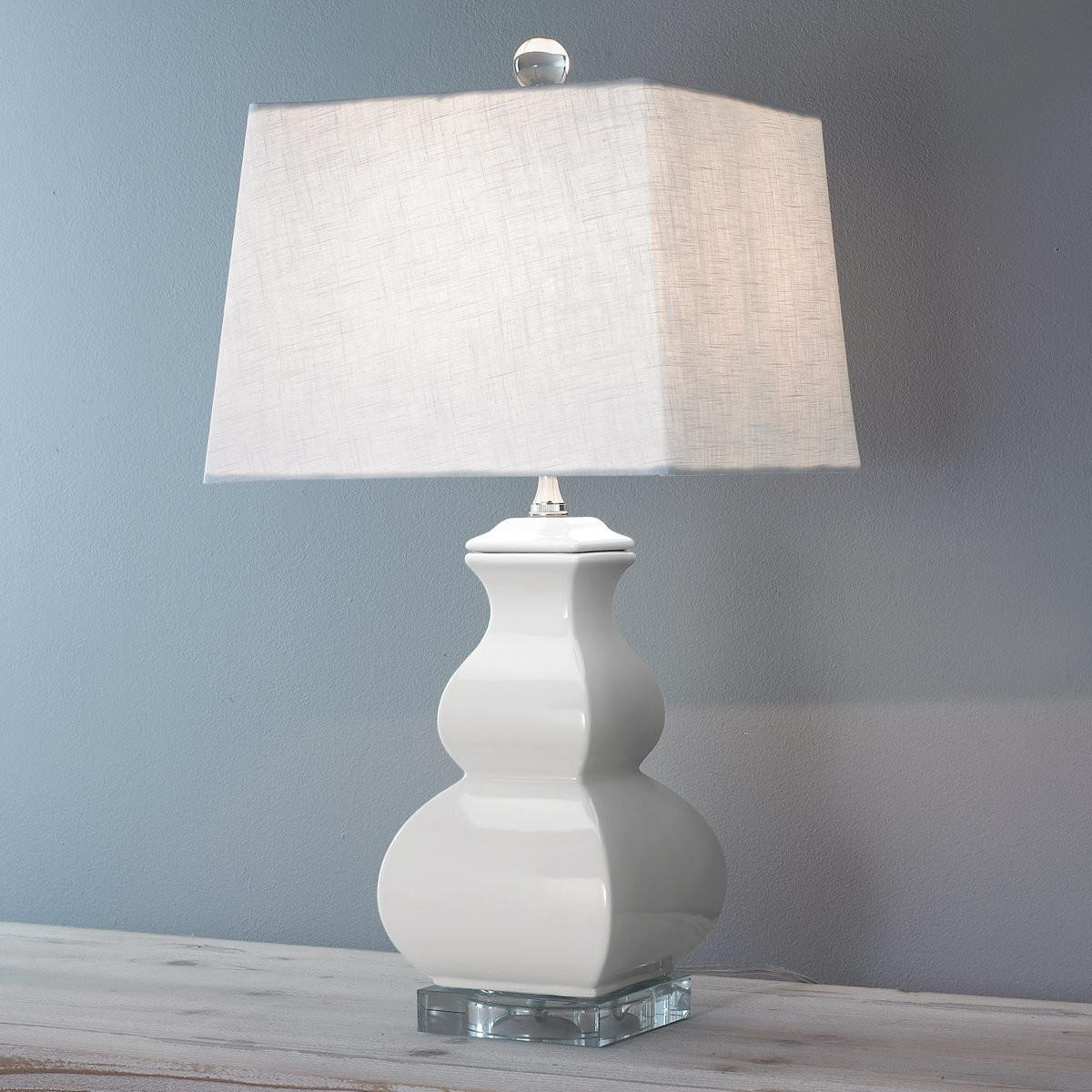 Porcelain Square Gourd Table Lamp Small Shades Light