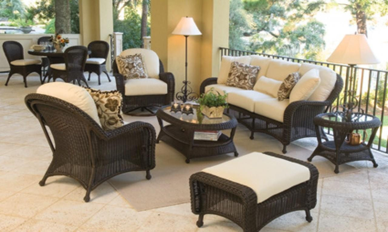 Porch Furniture Sets Black Wicker Patio