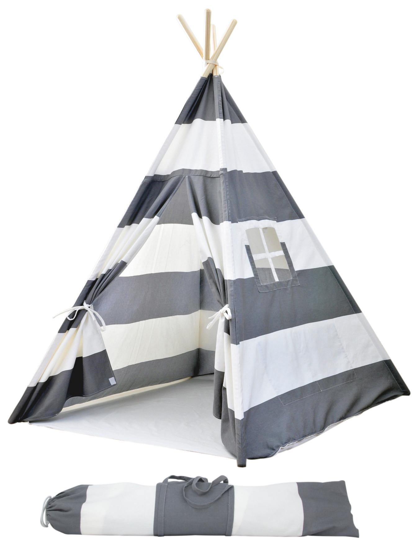 Portable Canvas Teepee Tents Kids Carrying Case