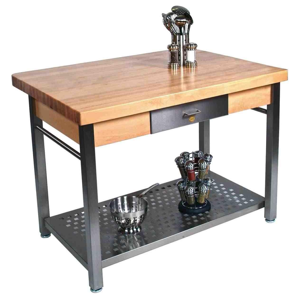 Portable Kitchen Island Butcher Block Top