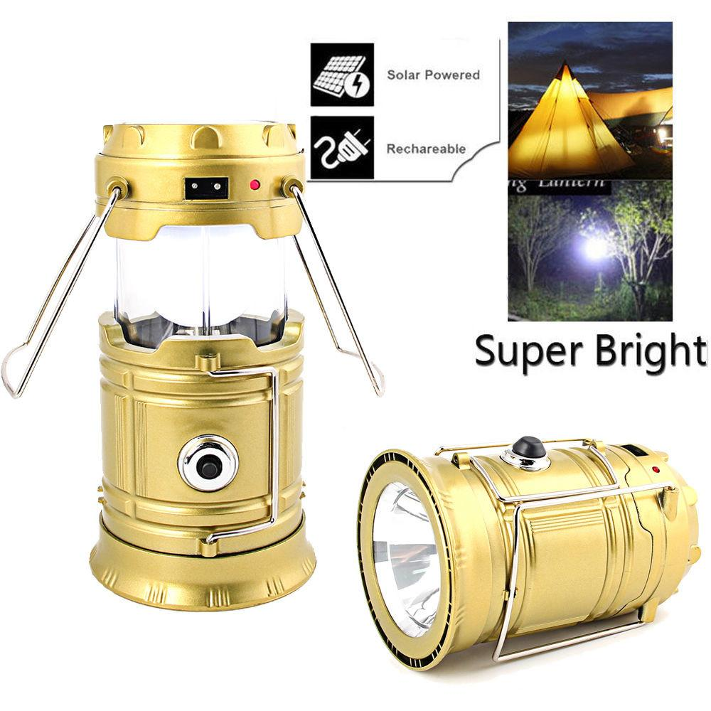 Portable Led Usb Solar Rechargeable Lantern Outdoor