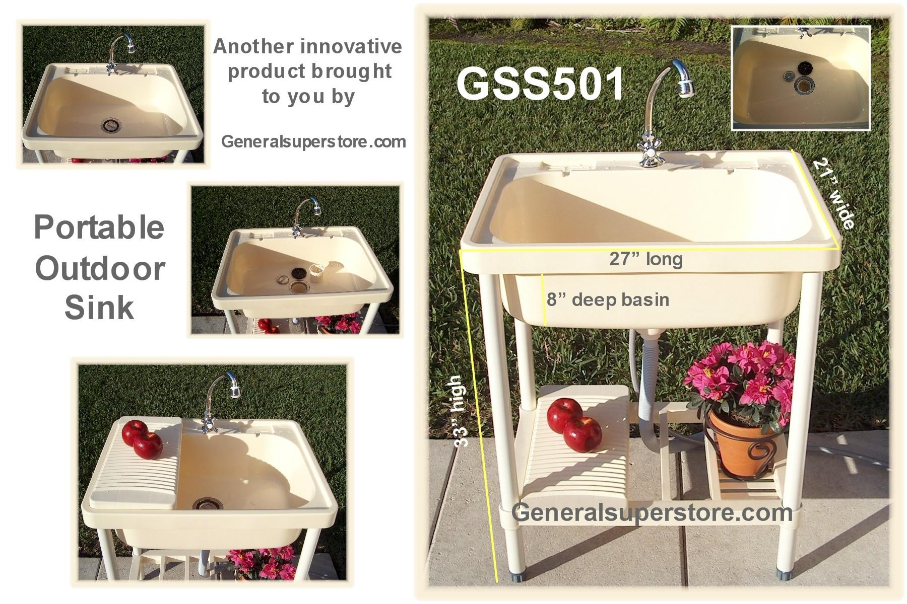 Portable Outdoor Sink Garden Camp Kitchen Camping