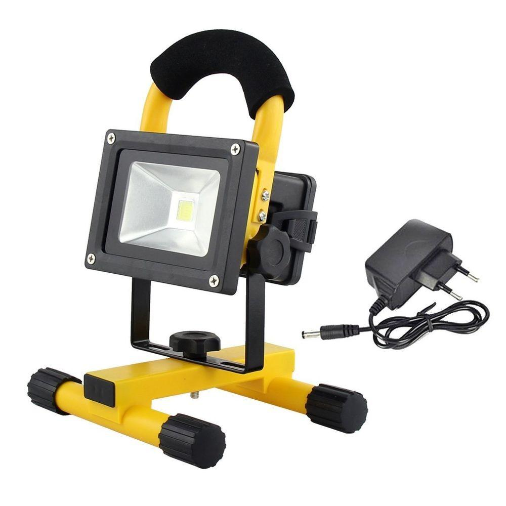 Portable Rechargeable 10w Led Outdoor Camping Flood Light